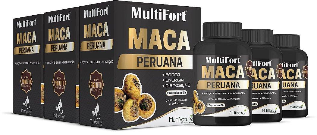 KIT - 3x Macas Peruana Premium 500mg 60 Capsulas cada