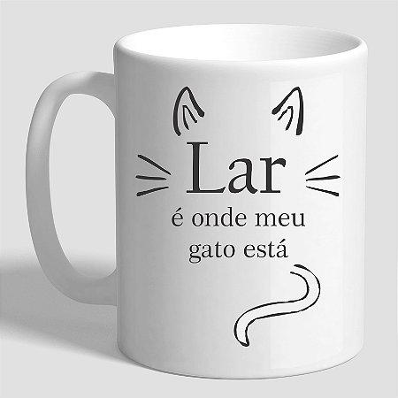 Caneca Lar é onde meu gato está