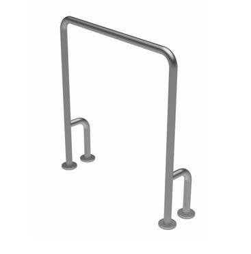 Barra de apoio em U fixa para piso