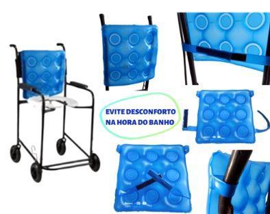 Encosto inflável para cadeira de rodas e banho
