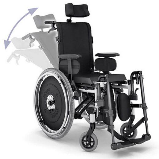 Cadeira de rodas reclinável AVD com cinto peiteira