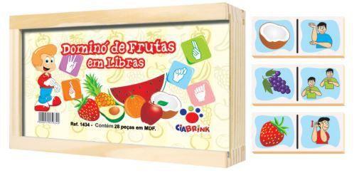 Dominó Frutas em Libras