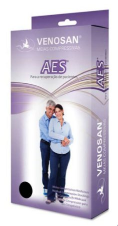 Meia de Compressão Panturrilha AES 18 mmHg AD Pé Aberto - Branca - GG