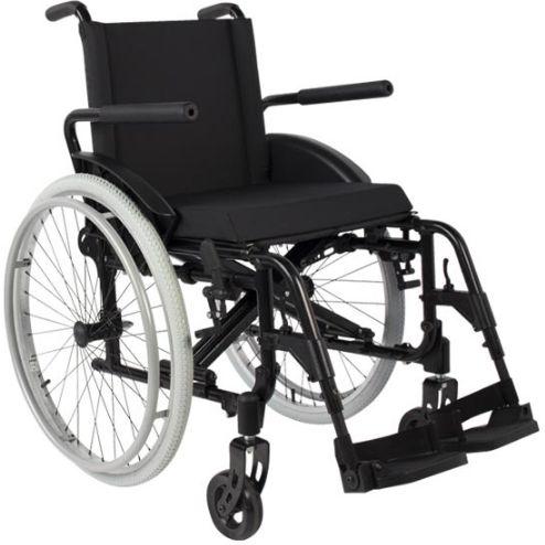 Cadeira de Rodas MA3 com Encosto Básico  - PRETO - 40 CM