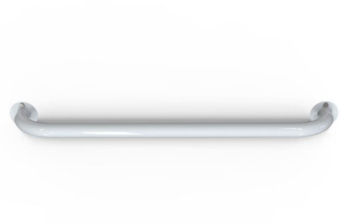 Barra de Apoio para Banheiro - Reta 100 cm Aço Carbono -Pintura Eletrostática Branca