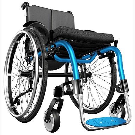 Cadeira de Rodas Monobloco Ventus - AZUL - 42 CM