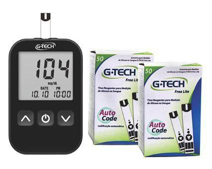 Medidor de Glicose G-Tech Free Lite