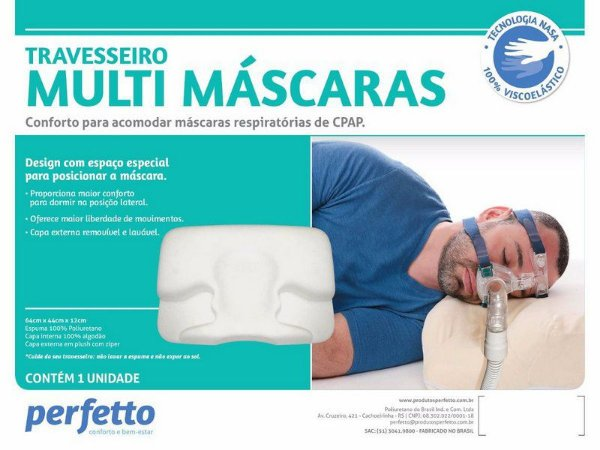 Travesseiro Multi Máscaras Para Uso De Cpap - Perfetto