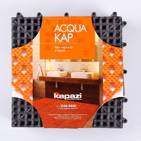 Tapete Acqua Kap 30x30cm com 06 Peças - Grafite