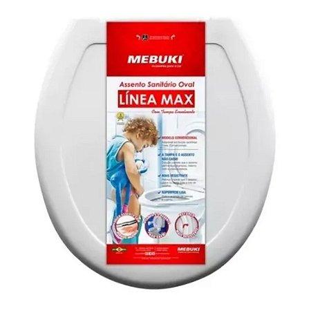 Assento Sanitário Oval Línea Max Branco