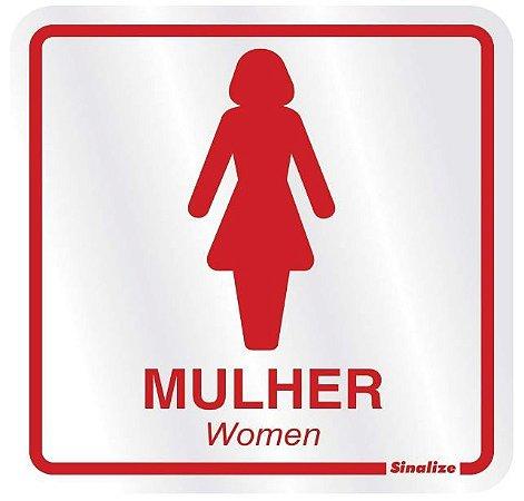 Placa em Alumínio - SANITÁRIO FEMININO