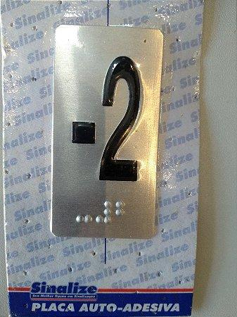 Placa em alumínio em braille para andares  -2