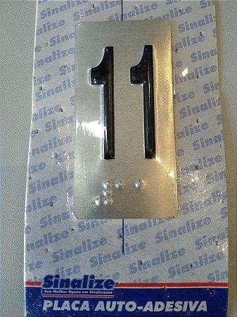 Placa em Alumínio em Braille para Andares  11