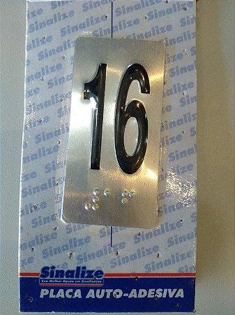 Placa em Alumínio em Braille para Andares  16