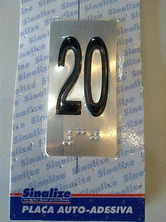 Placa em Alumínio em Braille para Andares  20