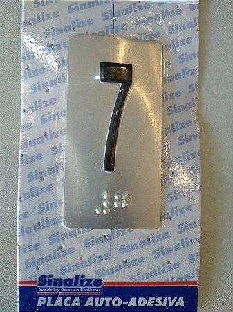 Placa em Alumínio em Braille para Andares  7