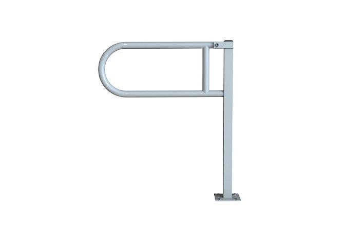 Barra de apoio articulada com pedestal - Aço Carbono - AÇO CARBONO - 80 CM