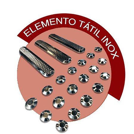 Elemento Tátil Inox - ALERTA