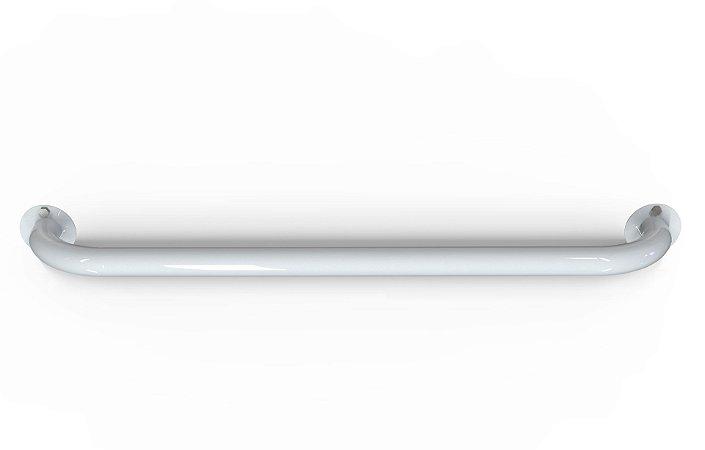 kit 2 barras de apoio de 80 cm para banheiro de idoso- Aço carbono  pintura Branca