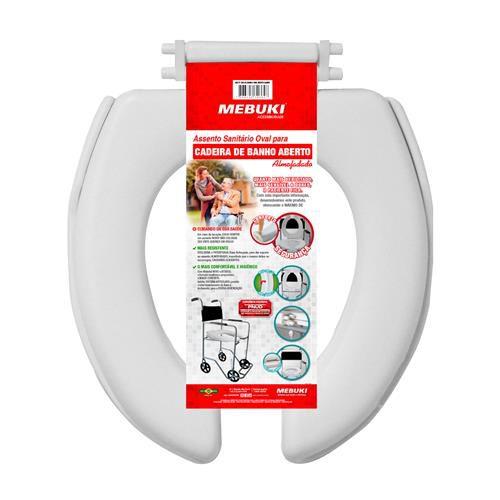 Assento sanitário oval aberto - ALMOFADADO