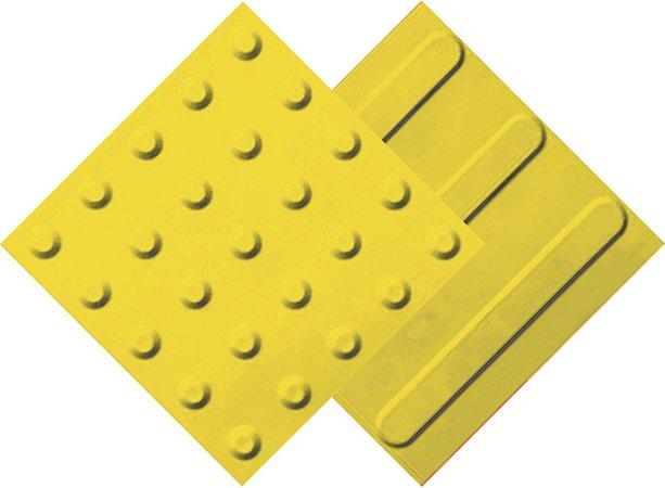 30 Piso tátil PVC 25 x 25  Amarelo   (15 Alerta e 15 Direc.)