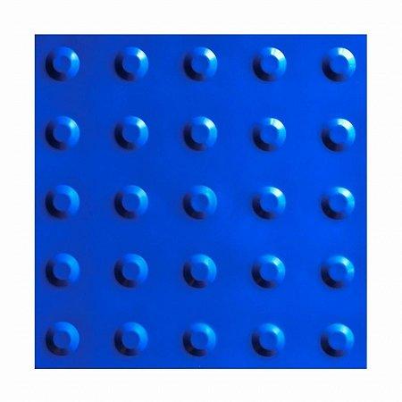 36 Pisos táteis Alerta em PVC 25 x 25 cm Azul