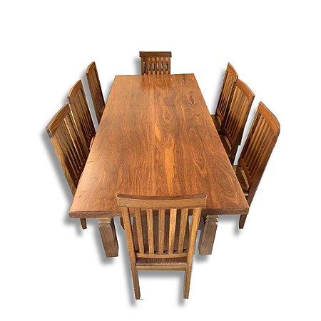Conjunto Mesa + 6 Cadeiras - Ipê Champanhe