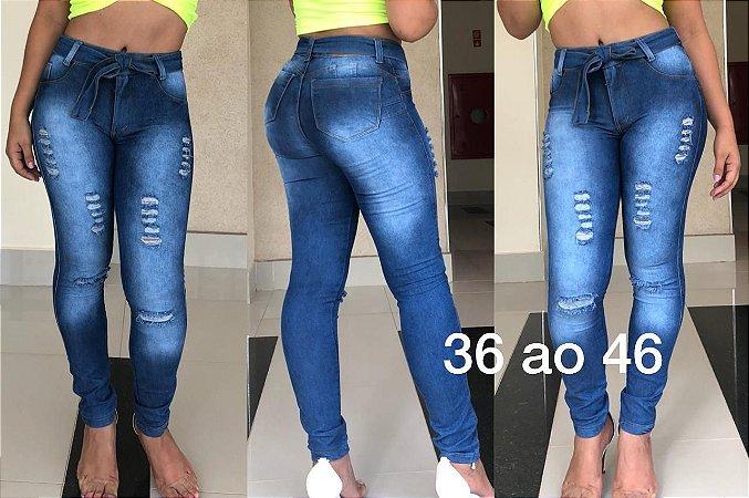 46294c531 10 Calças Jeans Clochard COM DETALHES RASGADINHOS - ATACADO 10 peças por  $41,99/