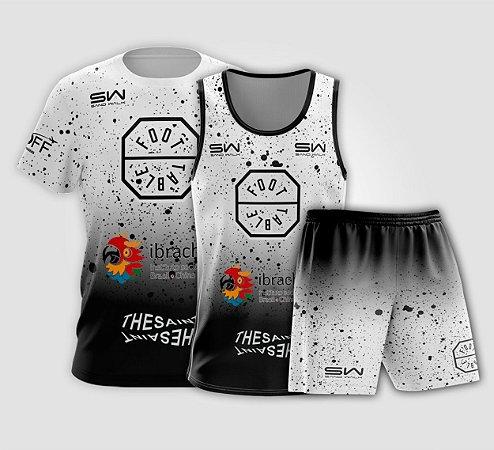 Kit Masculino   Camiseta, Regata e Shorts   Foot Table Branco