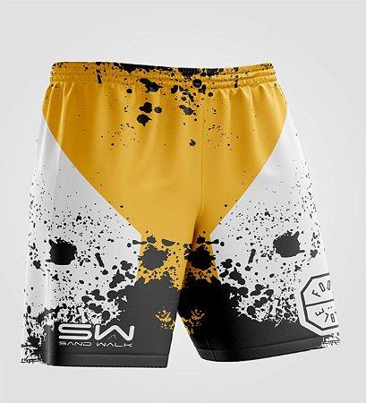 Shorts Masculino   Modelo Treino   Foot Table Amarelo