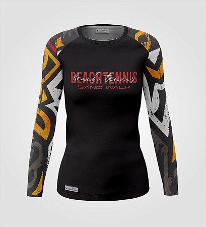 Camisa Manga Longa   Feminina   Beach Tennis   Clash