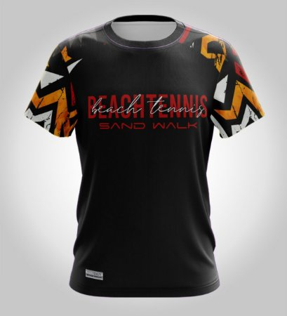 Camiseta Beach Tennis   Manga Curta   Clash