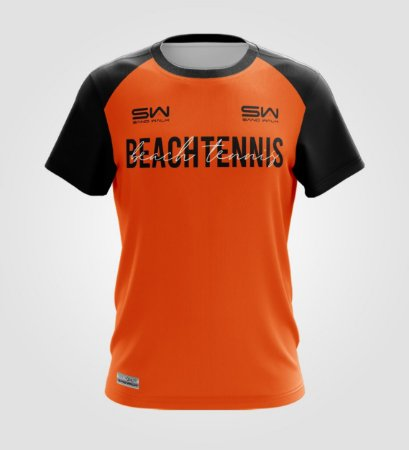 Camiseta Masculina   Beach Tennis   Colors   Laranja