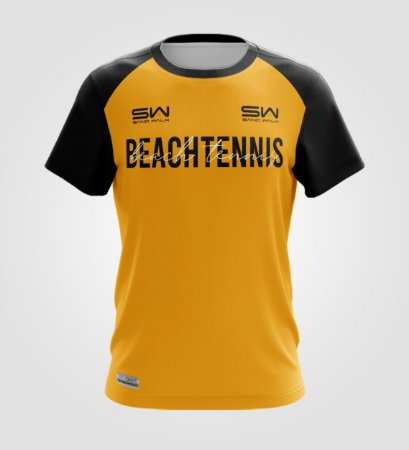 Camiseta Masculina | Beach Tennis | Colors | Mostarda