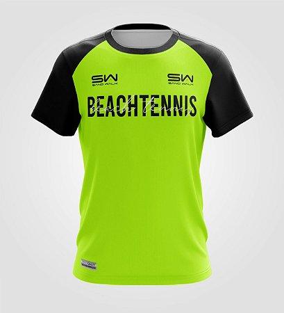 Camiseta Masculina | Beach Tennis | Colors | Flúor