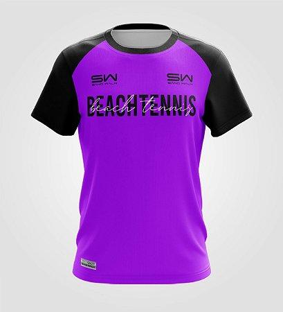 Camiseta Masculina   Beach Tennis   Colors   Purple