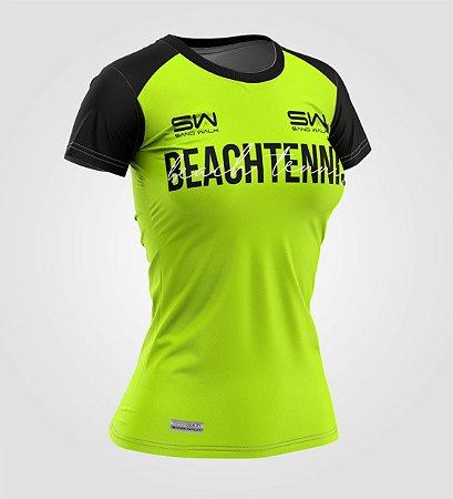Camiseta Feminina | Beach Tennis | Colors | Flúor