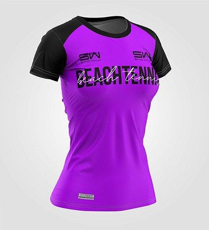 Camiseta Feminina | Beach Tennis | Colors | Purple