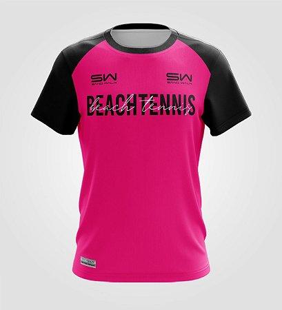 Camiseta Masculina   Beach Tennis   Colors   Pink