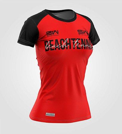 Camiseta Feminina | Beach Tennis | Colors | Vermelha