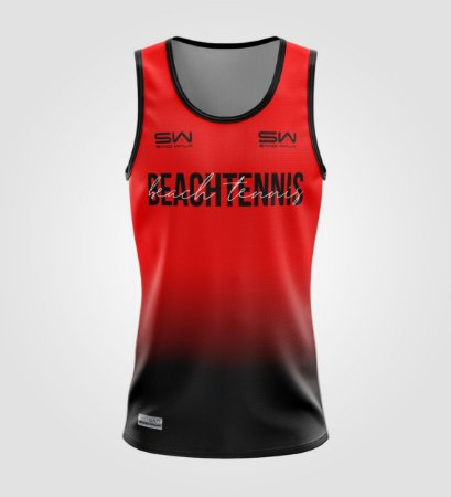 Regata Masculina   Beach Tennis   Colors   Vermelha