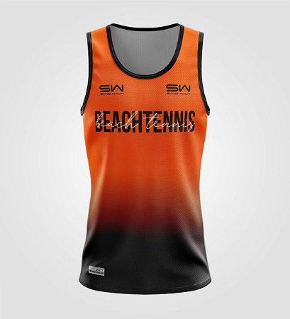 Regata Masculina   Beach Tennis   Colors   Laranja