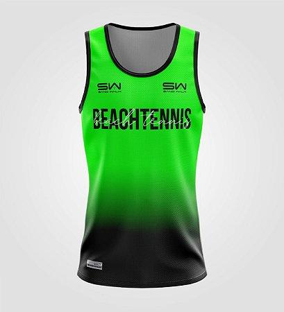 Regata Masculina   Beach Tennis   Colors   Verde
