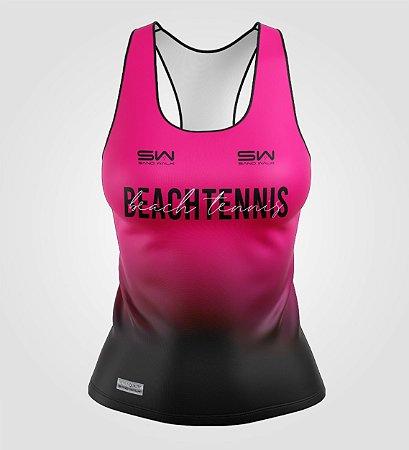 Regata Feminina   Beach Tennis   Colors   Pink