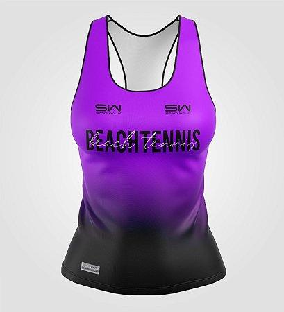 Regata Feminina   Beach Tennis   Colors   Purple