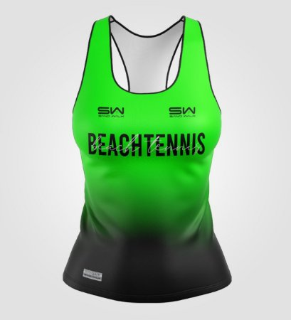 Regata Feminina   Beach Tennis   Colors   Verde