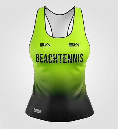 Regata Feminina   Beach Tennis   Colors   Flúor
