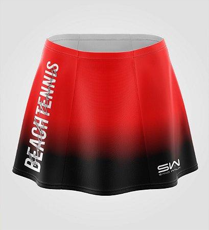 Shorts-Saia   Beach Tennis   Colors   Vermelho e Preto