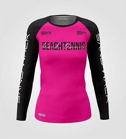 Camisa Manga Longa | Feminina | Beach Tennis | Colors | Vermelha