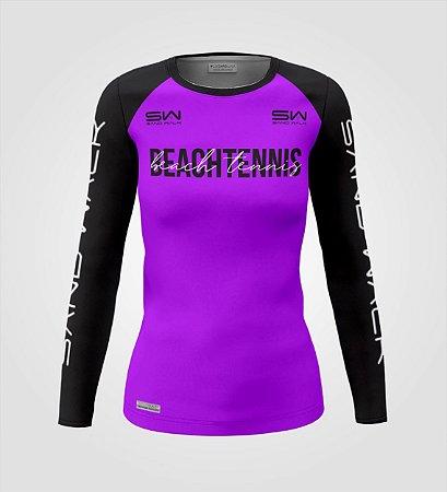 Camisa Manga Longa   Feminina   Beach Tennis   Colors   Purple